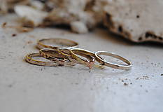 Prstene - 5 krát a vždy inak obrúčka zlatá - 5782759_