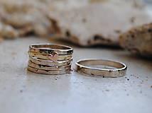 Prstene - 5 krát a vždy inak obrúčka zlatá - 5782761_