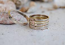Prstene - 5 krát a vždy inak obrúčka zlatá - 5782762_
