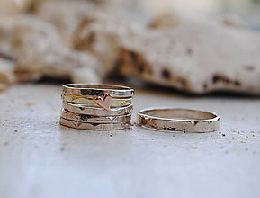 Prstene - 5 krát a vždy inak obrúčka zlatá - 5782756_
