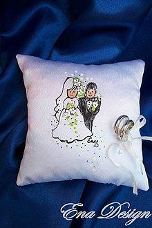 Prstene - My - svadobný vankúšik - 5782639_