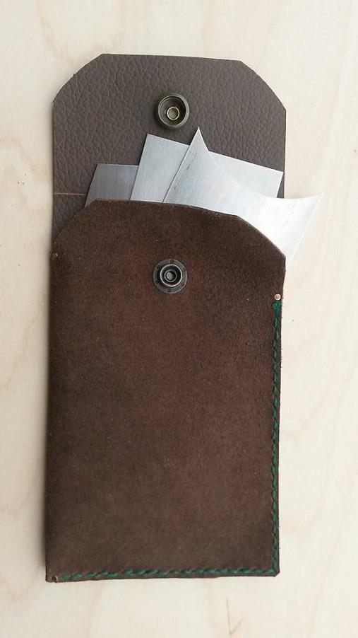 Kožené púzdro na stolárske škrabky