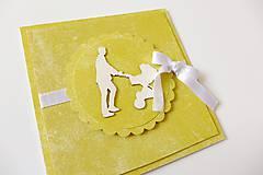 Papiernictvo - pohľadnica k narodeniu dieťatka - 5781442_