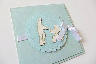 Papiernictvo - pohľadnica k narodeniu dieťatka - 5781237_
