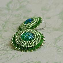 Náušnice - Chartreuse earrings - 5781057_