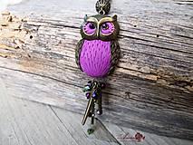 Náhrdelníky - B117 náhrdelník Owl - 5780978_