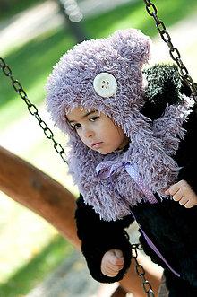 Detské súpravy - Fialový macko - 5781360_