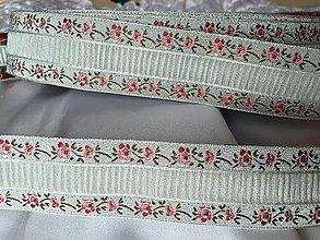 Galantéria - Kvetovaná biela stuha, 3cm, 3.50€/meter - 5781502_