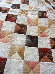 Úžitkový textil - Patchworková deka - Spomienka na Londýn. - 5780994_