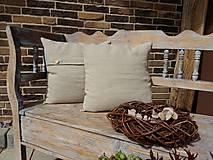 - Vankúš Pure Linen (50x30 cm - Béžová) - 5782384_