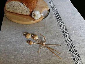 Úžitkový textil - Ľanová štóla Grandma's Memories - 5782307_