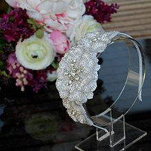 Ozdoby do vlasov - Wedding Lace Collection Flowers ... čelenka - 5784559_