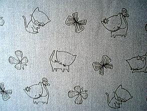 Textil - Bavlna Kitties in Iron - 5787353_