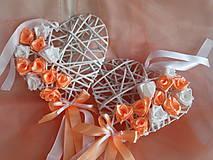 Dekorácie - Srdce v marhuľovej - 5784819_