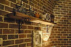 Nábytok - Masívna polica z dreveného trámu - 5785341_