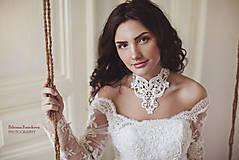 """Náhrdelníky - biely náhrdelník white dream - """"čas čipky"""" - 5787680_"""