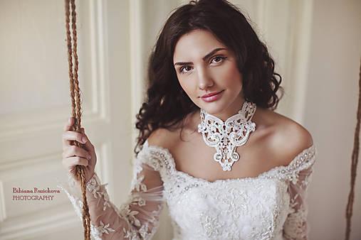 biely náhrdelník white dream -