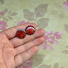 Náušnice - Vintage Sakura-  puzetové náušnice 16 mm - 5786054_