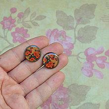 Náušnice - Orange Blossom -   puzetové náušnice 16 mm - 5786083_