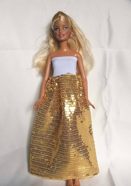 0e0e9c76fa93 Zlaté flitrované šaty pre Barbie   TrishaFate - SAShE.sk - Handmade ...