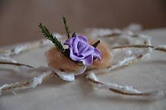 Ozdoby do vlasov - Čelenka fialová Ruženka - 5786166_
