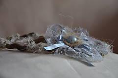 Ozdoby do vlasov - Čelenka, perla v krajke odetá - 5786222_