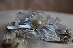 Ozdoby do vlasov - Čelenka, perla v krajke odetá - 5786224_