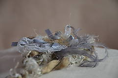 Ozdoby do vlasov - Čelenka, perla v krajke odetá - 5786225_
