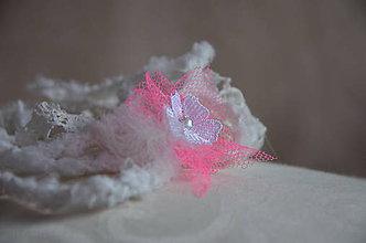 Ozdoby do vlasov - Čelenka nežný vánok ružový - 5786146_