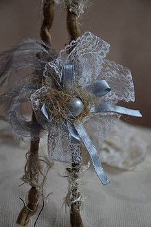 Ozdoby do vlasov - Čelenka, perla v krajke odetá - 5786223_