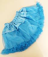 Detské oblečenie - tyrkysová tutu sukňa - 5787094_