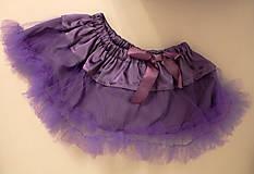 Detské oblečenie - fialová tutu sukňa - 5787108_