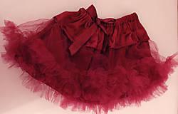 Detské oblečenie - bordová tutu sukňa - 5787121_