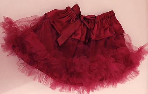 bordová tutu sukňa
