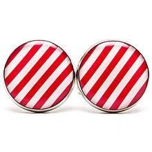 Šperky - Červeno-biele pásiky - 5783931_