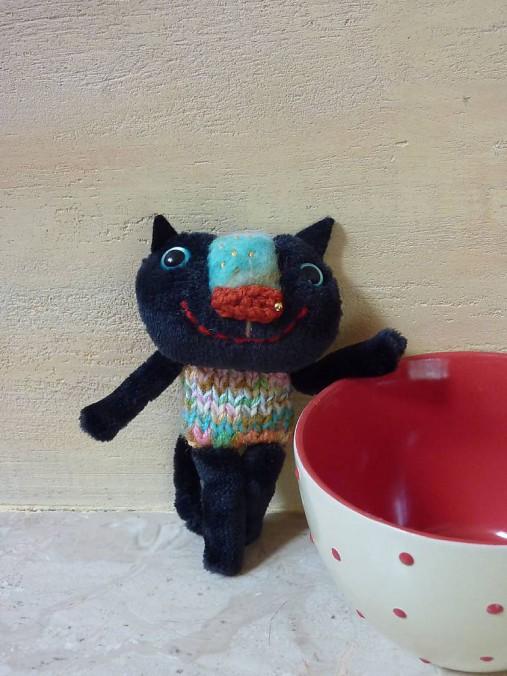 Krása čiernej mačička