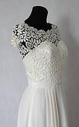 Šaty - Svadobné šaty v ľudovom štýle v smotanovej farbe - 5786176_