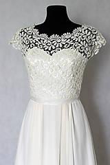 - Svadobné šaty v ľudovom štýle v smotanovej farbe - 5786177_