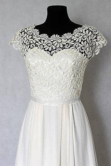Šaty - Svadobné šaty v ľudovom štýle v smotanovej farbe - 5786177_