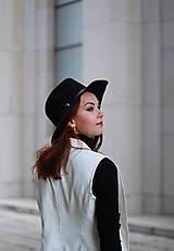 Iné oblečenie - Biela vesta/ sako bez rukávov - 5785427_