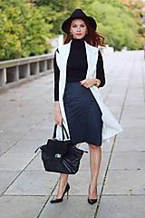 Iné oblečenie - Biela vesta/ sako bez rukávov - 5785429_