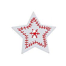 Galantéria - Drevený gombík hviezdička - 5786712_