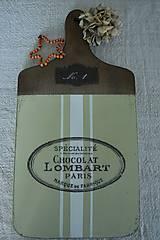"""Pomôcky - Lopár """"Chocolat Lombart"""" - 5784588_"""