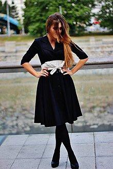 Šaty - Košilové šaty MILA, černá - 5789075_