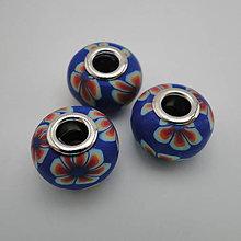 Korálky - Pandora FIMO 16x10mm-1ks (modrá) - 5790515_