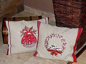 Úžitkový textil - vianočné vankúše - 5788223_