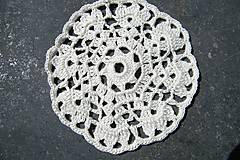 Úžitkový textil - Biely háčkovaný kruh - 5790107_