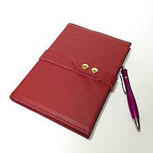 Papiernictvo - Kožený zápisník A5 (144 listov) - 5791060_
