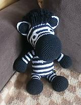 Hračky - Háčkovaná zebra - 5791441_