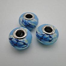 Korálky - Pandora FIMO 16x10mm-1ks (modrá) - 5790529_